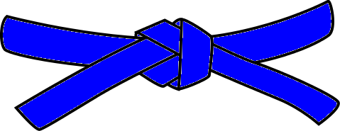 Judo Belt, 2nd Kyu, blue