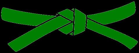 Junior Judo Belt, 3rd Kyu, green