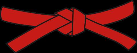 Primary Judo Belt, red